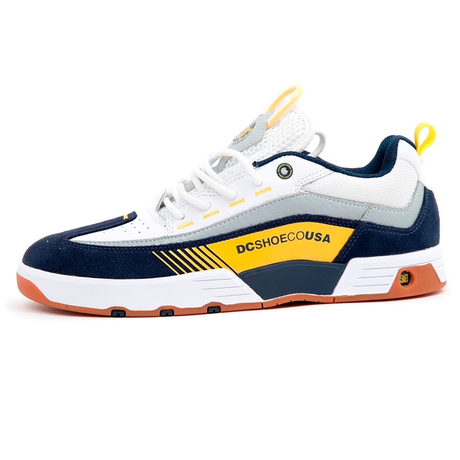 DC Shoe Co. Legacy 98 Slim S (White / Yellow / Blue)