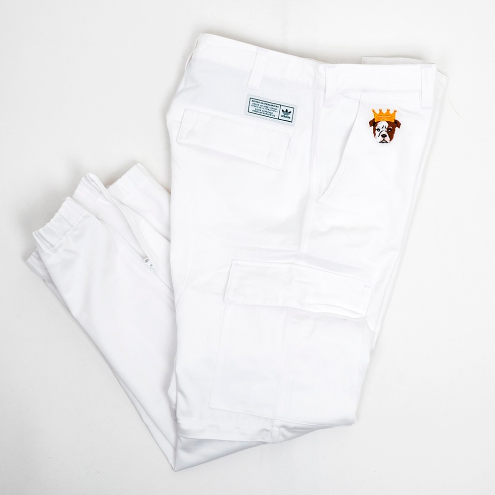 TJ Cargo Pant (White / Collegiate Green)