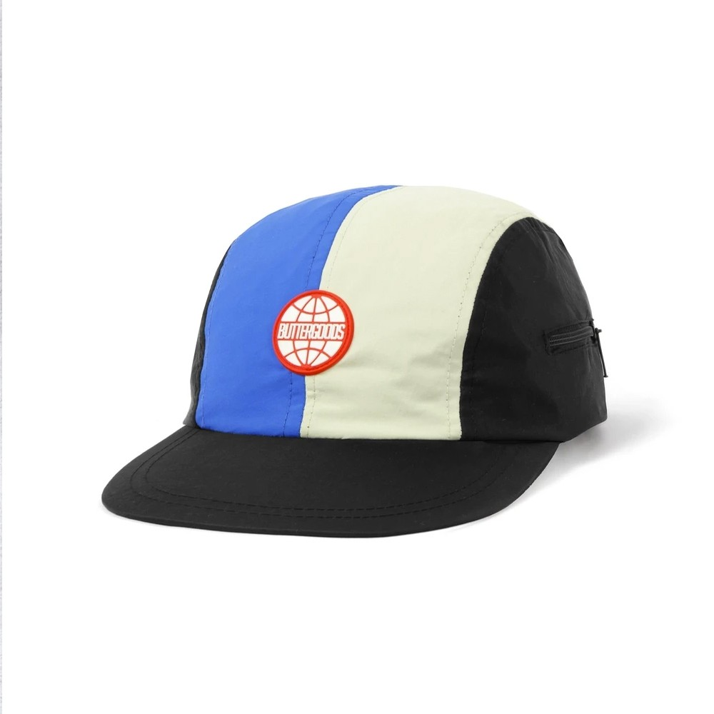 Foley Camp Strapback Cap (Black / Royal / Cream)