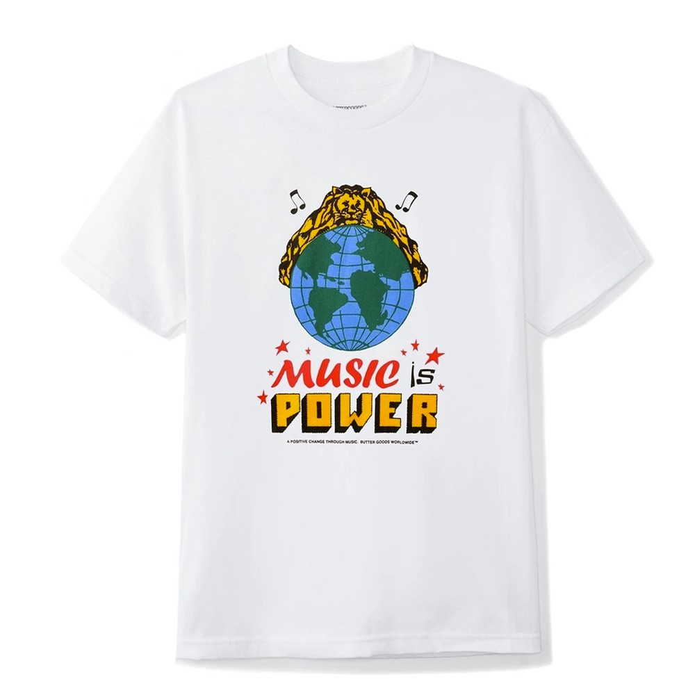 Music Is Power Tee (White)