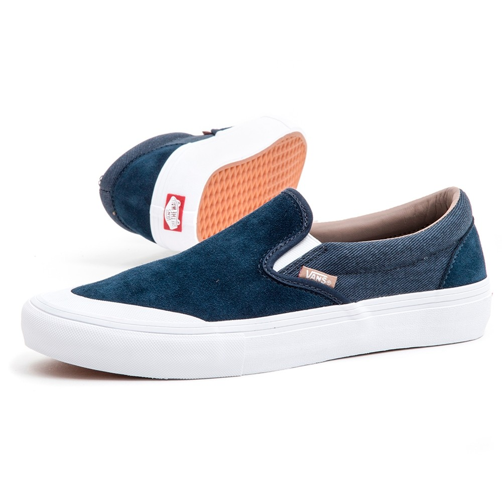 Slip-On Pro (Twill) Dress Blues / Portabella) VBU