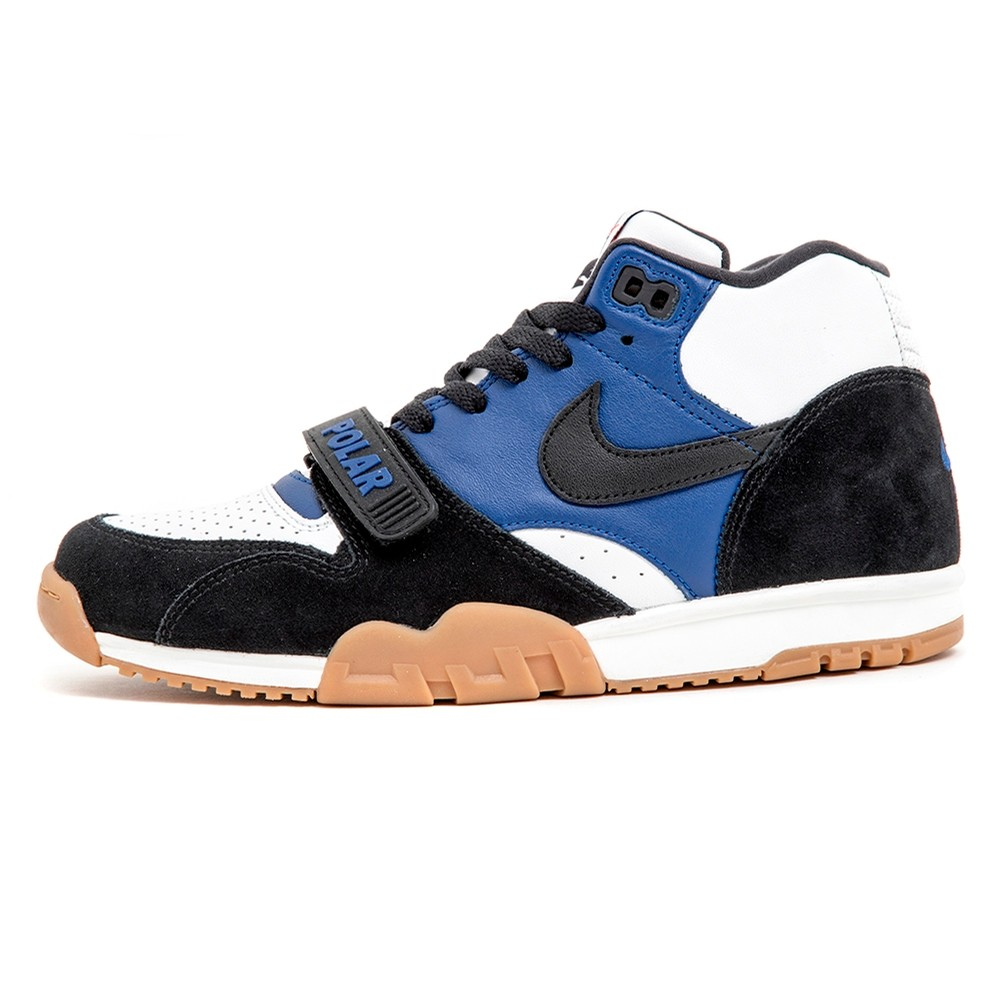 Air Trainer I QS (Black / Black - Deep Royal Blue) Polar Skate Co