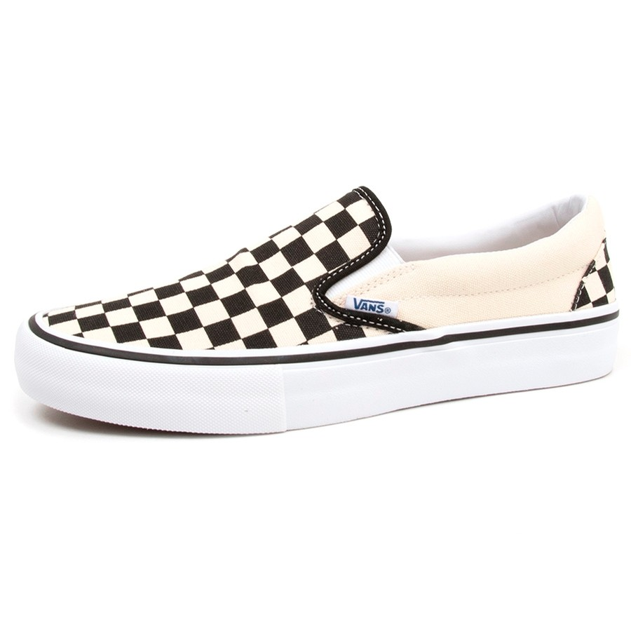 Slip-On Pro (Chckrbrd) Black/White