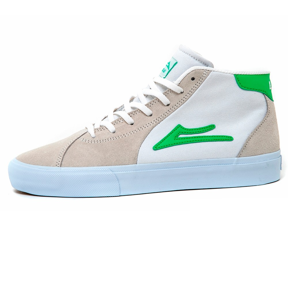Flaco II Mid (White Suede)