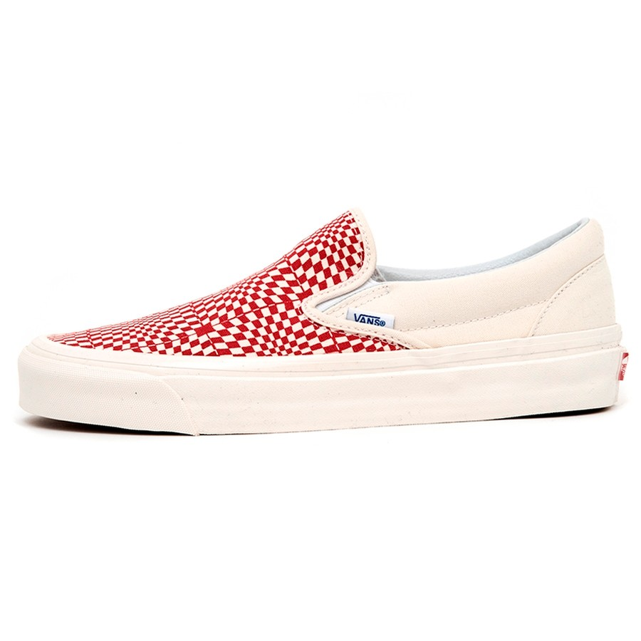 Classic Slip-On 98 DX (Anaheim Factory) Og Red / Warp Check VBU