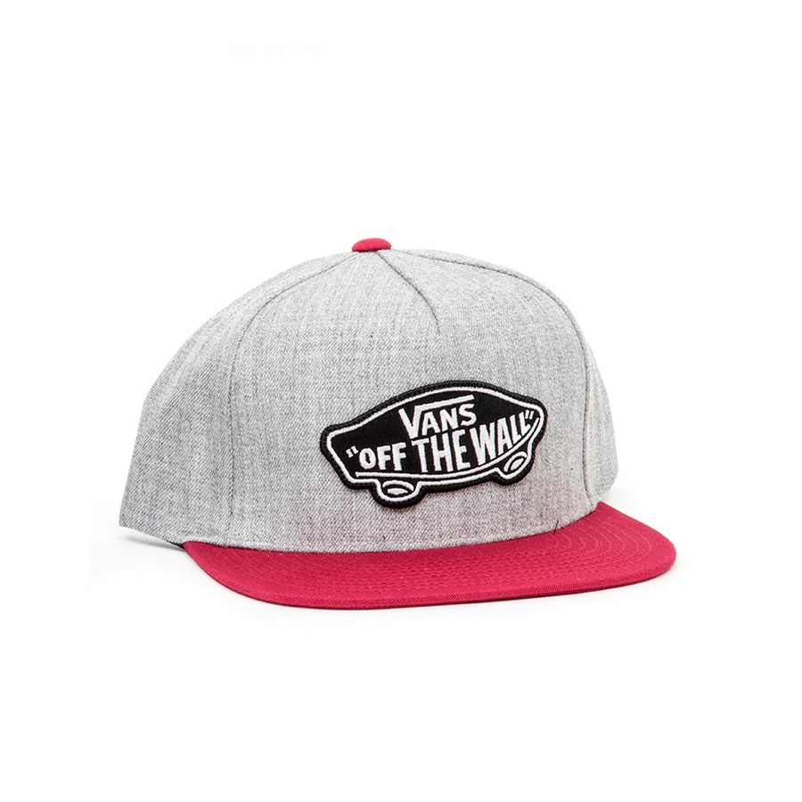 Classic Patch Snapback Hat (Heather Grey / Rhumba Red) VBU