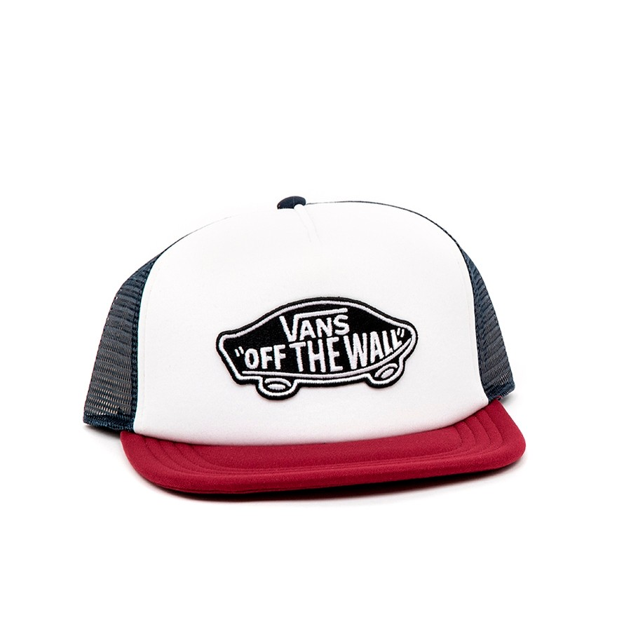 Classic Patch Trucker Hat (White / Rhumba Red) VBU