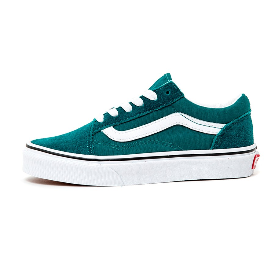 Kids Old Skool (Quetzal Green / True White) VBU