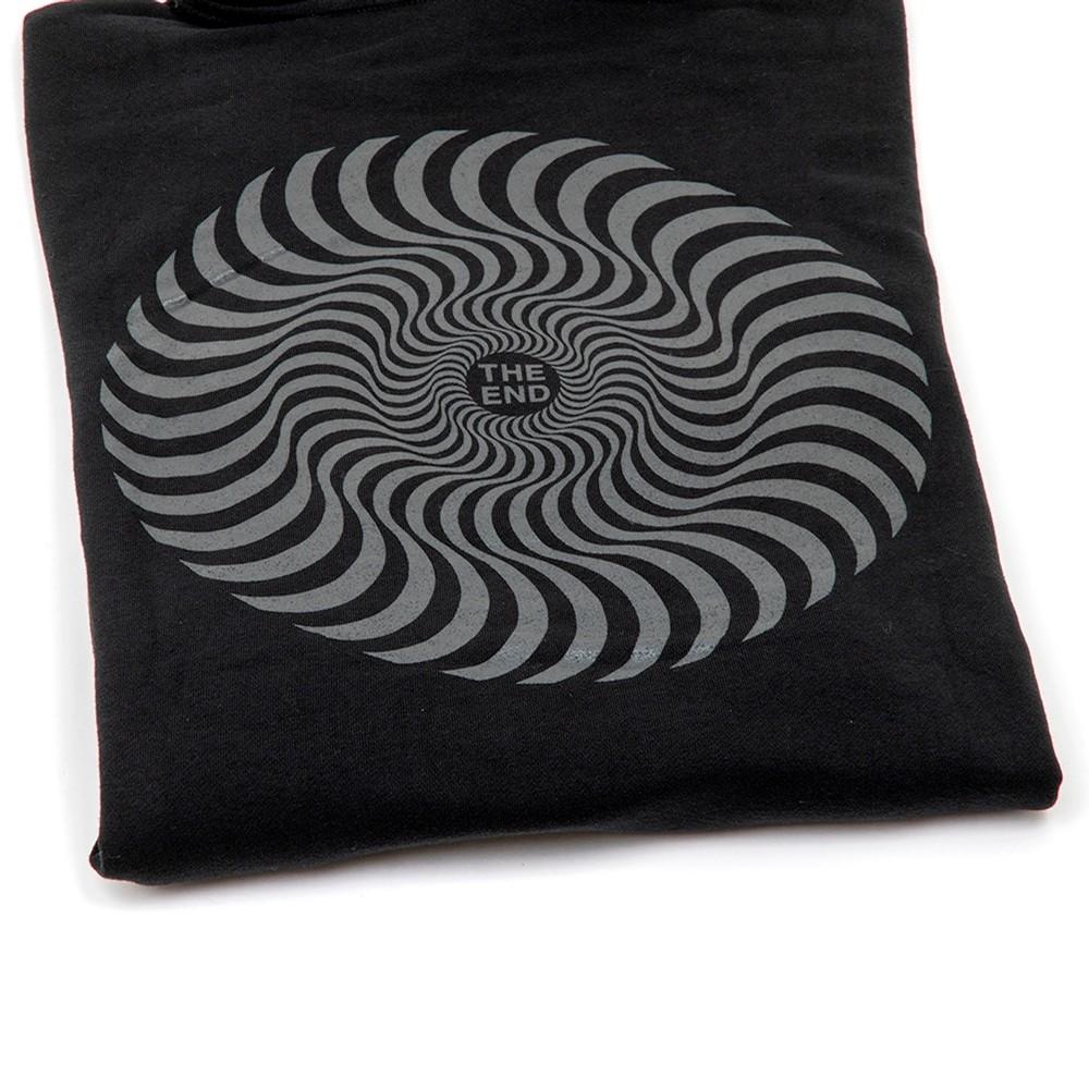 Classic Swirl Hooded Sweatshirt (Black)