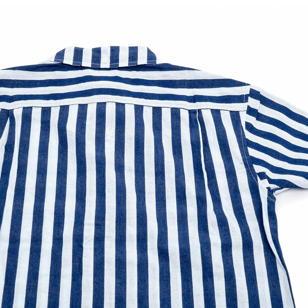 Barnum Short Sleeve Button Down Shirt (Navy/White)