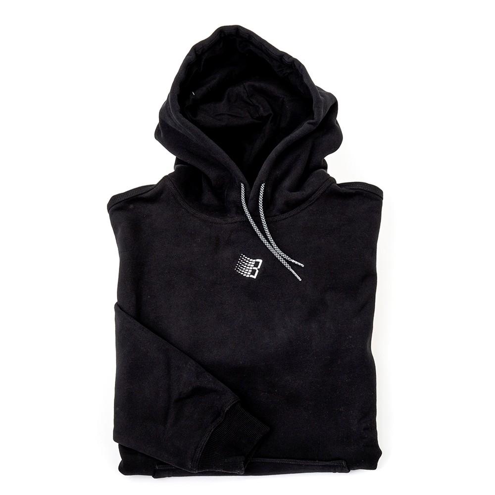 Embroidered B Hoodie (Black)
