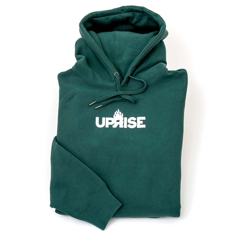 Flame Logo Hooded Sweatshirt (Alpine Green)