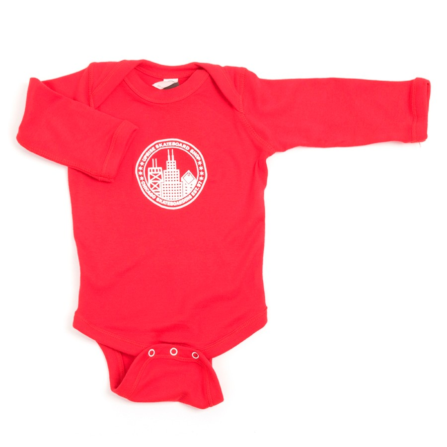 City Seal Onesie (Red / White)