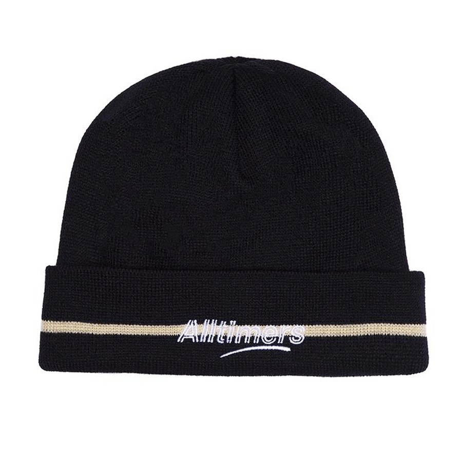 Lined Estate Beanie (Navy)