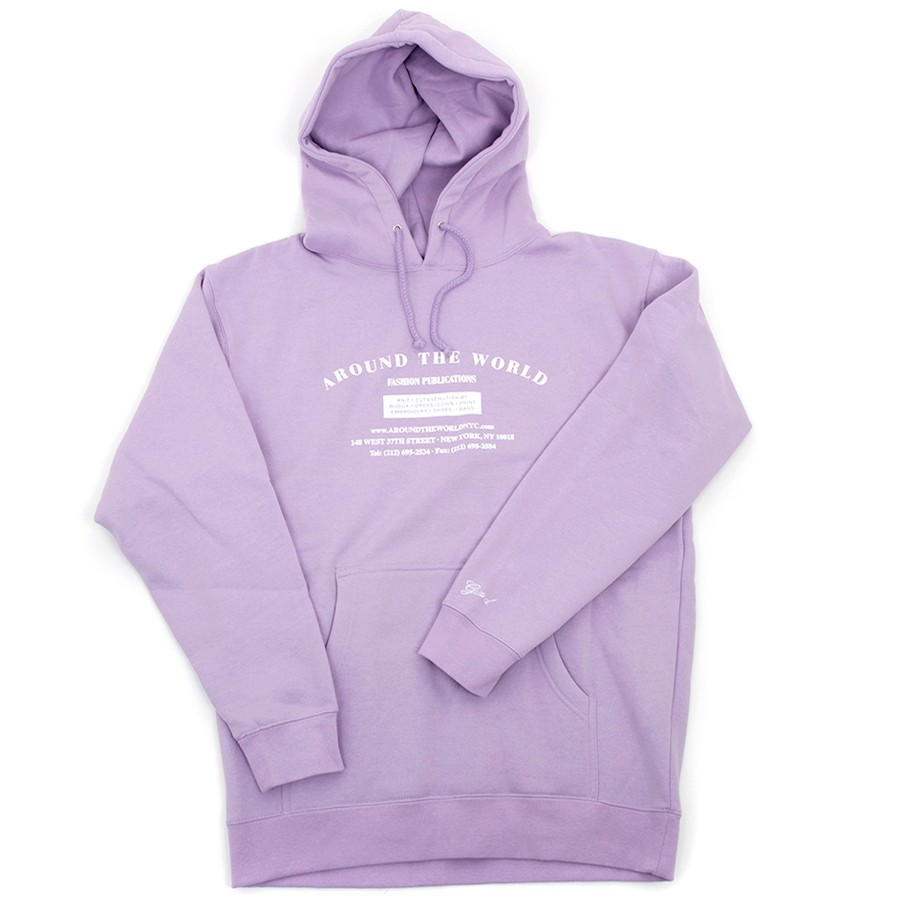 Around The World Hooded Sweatshirt (Lavender)