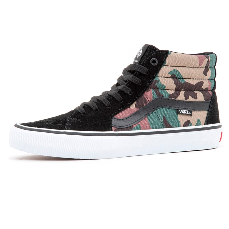 229d20fc6a Vans Sk8-Hi Pro (Camo) Black  White VBU Men s Shoes at Uprise