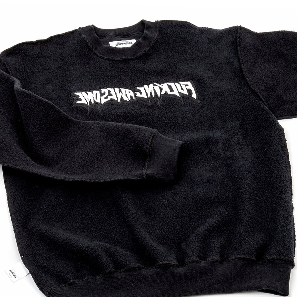 Reversible Empty Drip Crewneck Sweatshirt (Black)