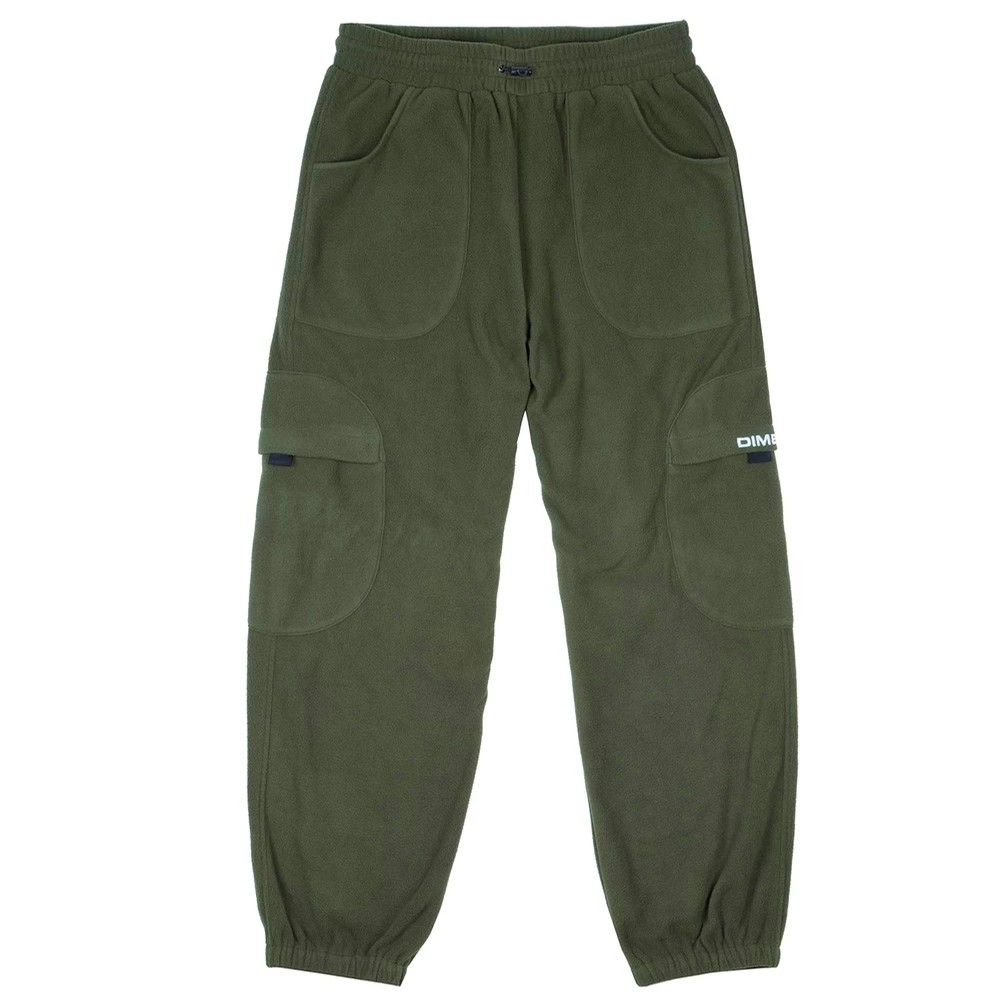 Fleece Round Cargo Pants (Olive)