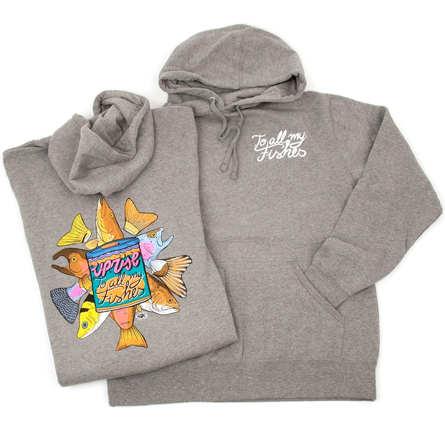 Uprise To All My Fishes (Pullover Hoody) Gunmetal