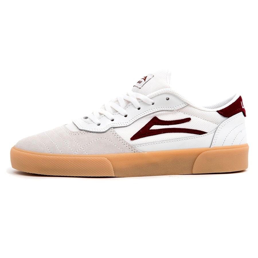 Cambridge (White / Burgundy Leather)