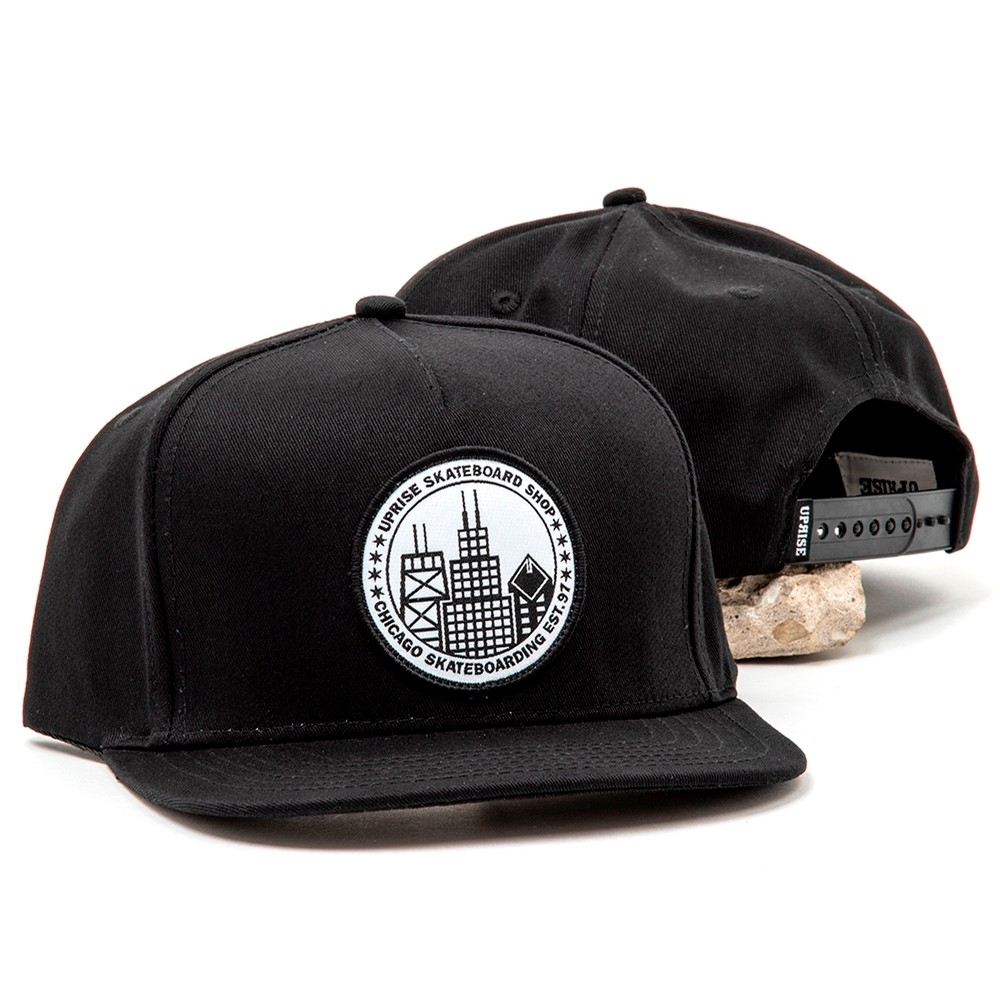 City Seal Snapback (Black / White)