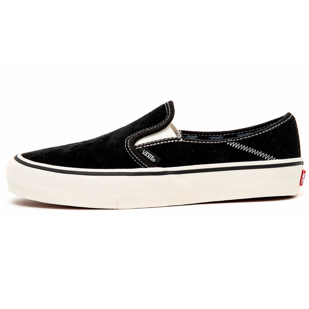 Slip-On Sf (Suede and Sherpa) Black / Checkerboard VBU