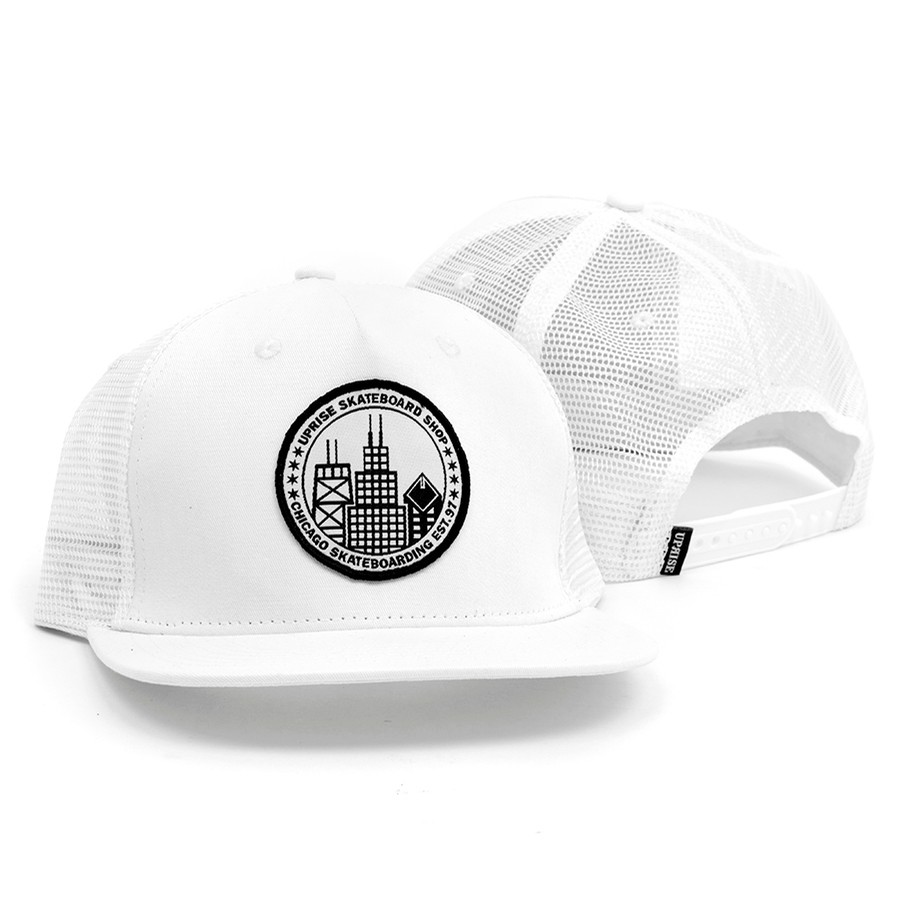 City Seal Trucker Snapback (White)