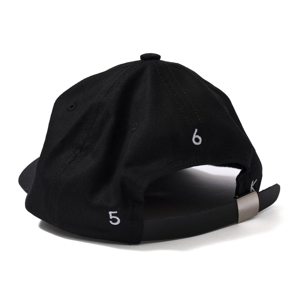 Snakeskin B Strapback Hat (Black)