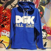 All Day Zip Hood Fleece Royal (p)