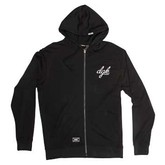Cursive Hooded Fleece Zip Up (P)