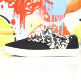 Turbulence Black And White Canvas Low -Top (P)