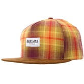 Snapback Hat Plaid - Plaid / Brown Suede
