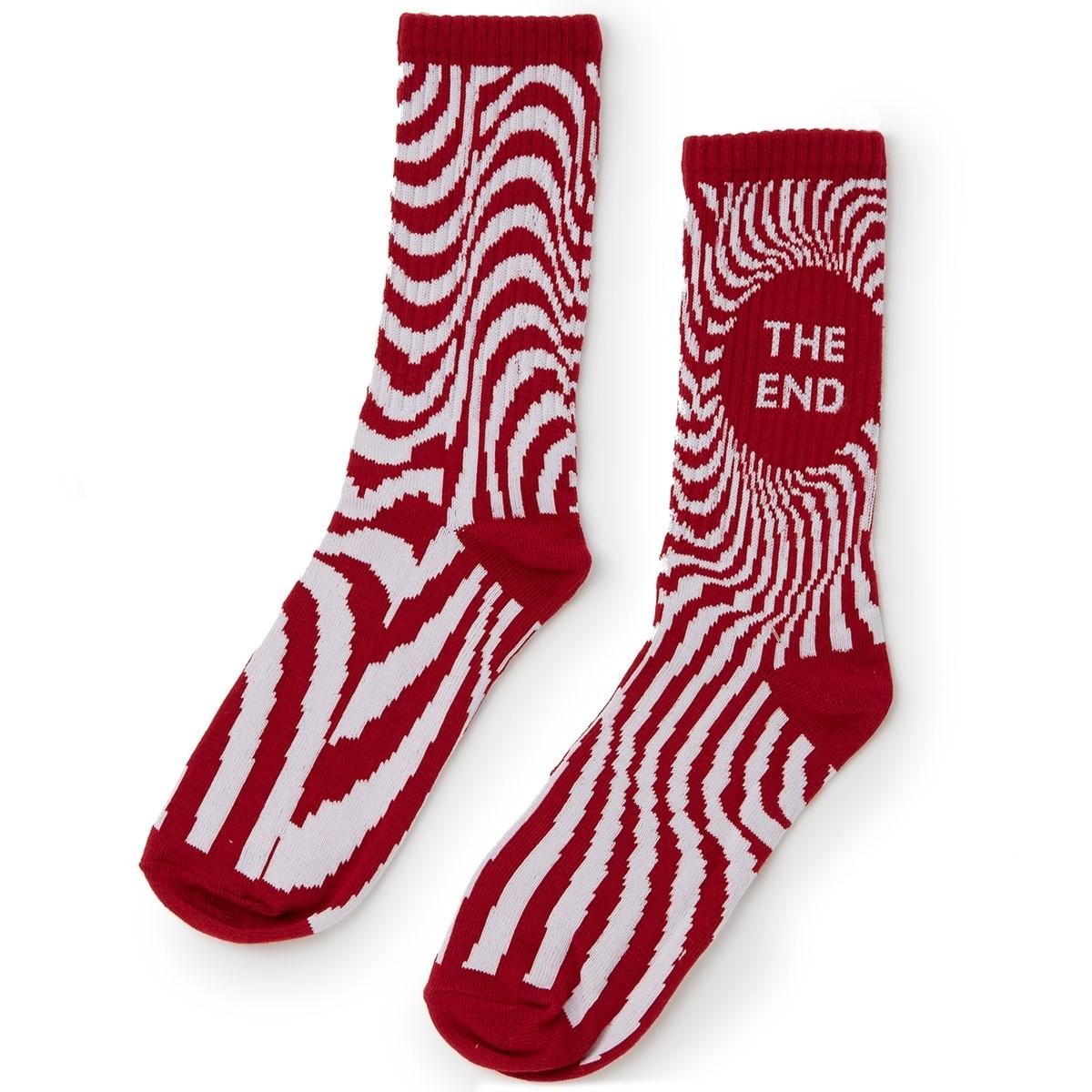 Classic Swirl Sock Red