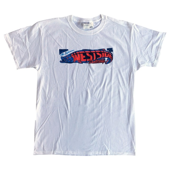 Fish Tee White/Blue/Or
