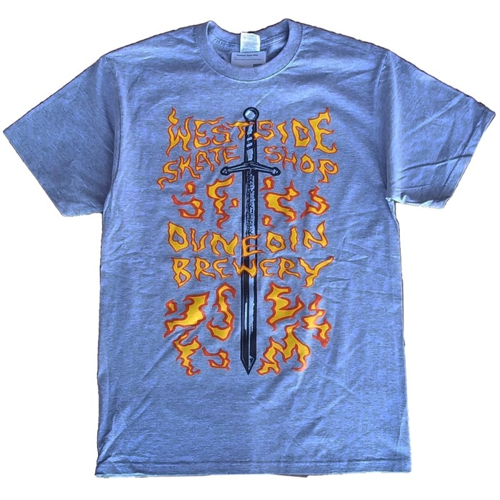 Westside Skate Shop Brewery Flame Tee Grey