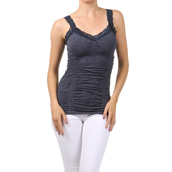 Corset Look Cami (Heather Blue)
