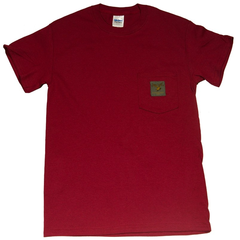 Cowtown Woven Label Pocket Tee (Maroon)