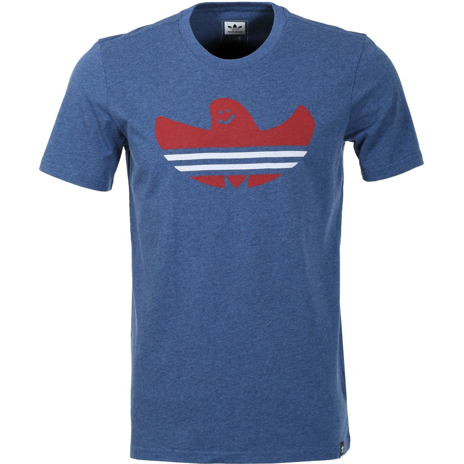 Adidas Nautical Shmoo Tee (Mystery Blue Melange/Mystery Red/White)