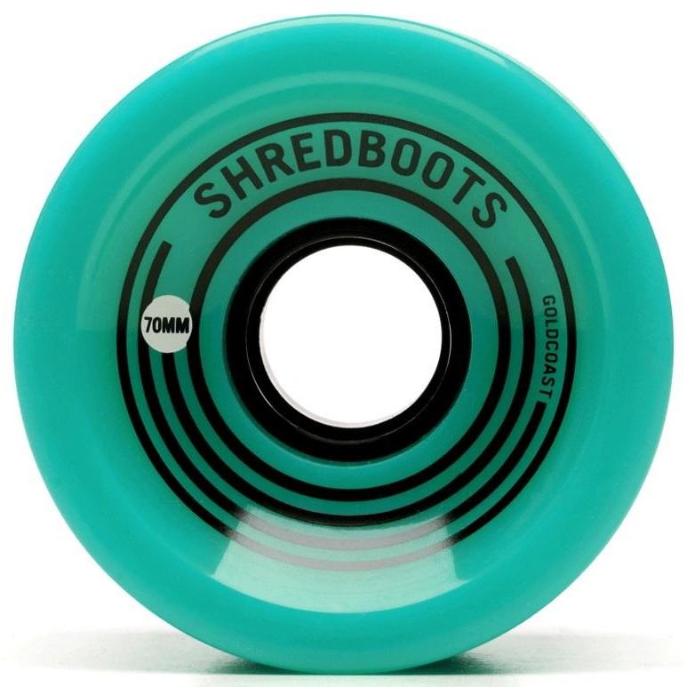 Gold Coast Longboards Shred Boot Wheels (Teal)
