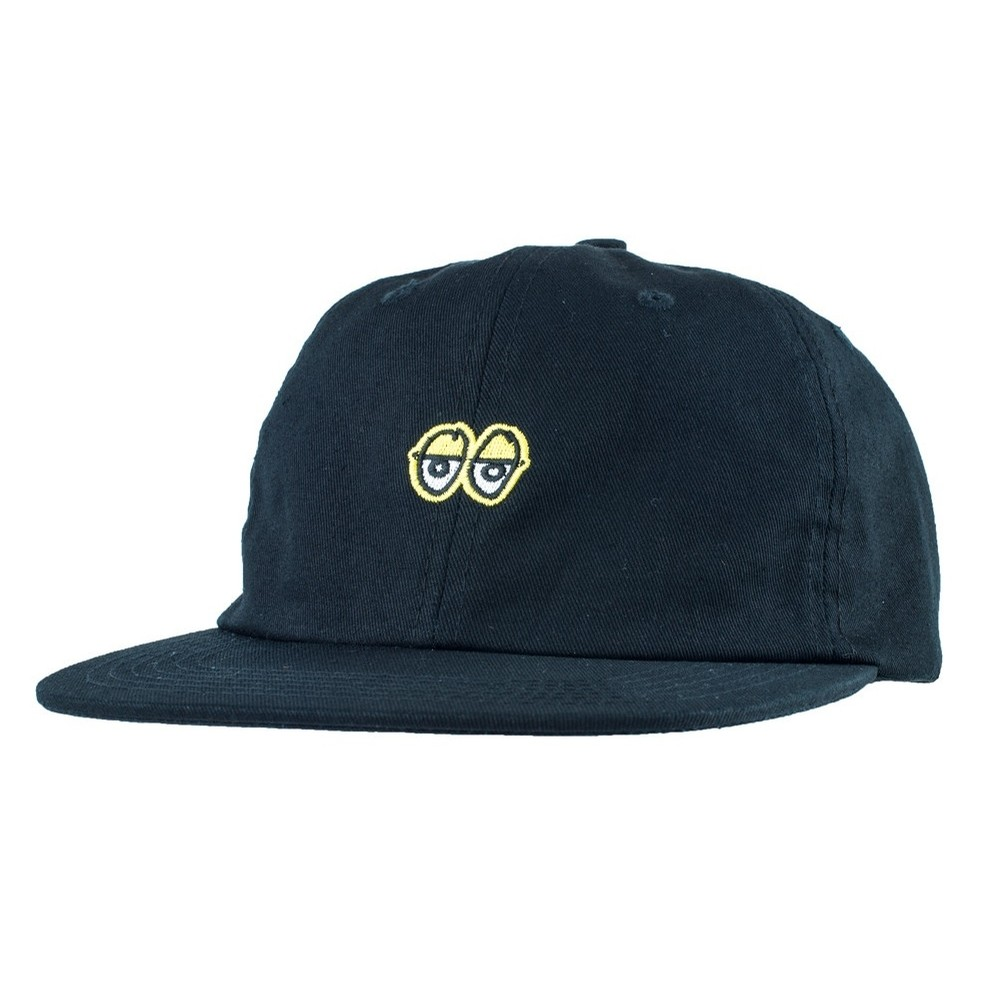 Krooked. Eyes Embroidered Clipback Hat (Black Yellow) d4437562f258