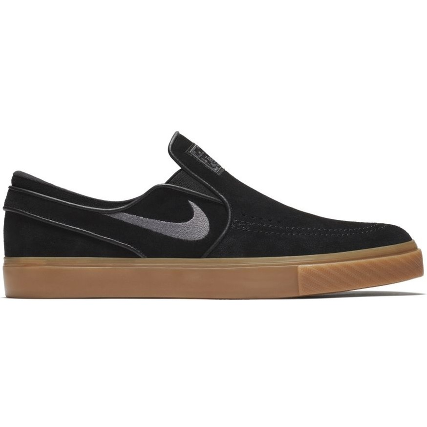 0f09af570 Nike Zoom Stefan Janoski Slip (Black Gunsmoke-Gum Light Brown)