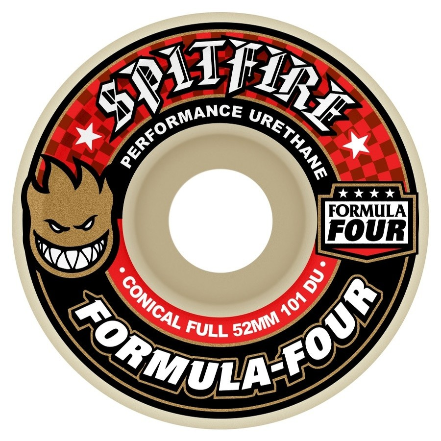Spitfire F4 101 Conical Full Wheels (White)