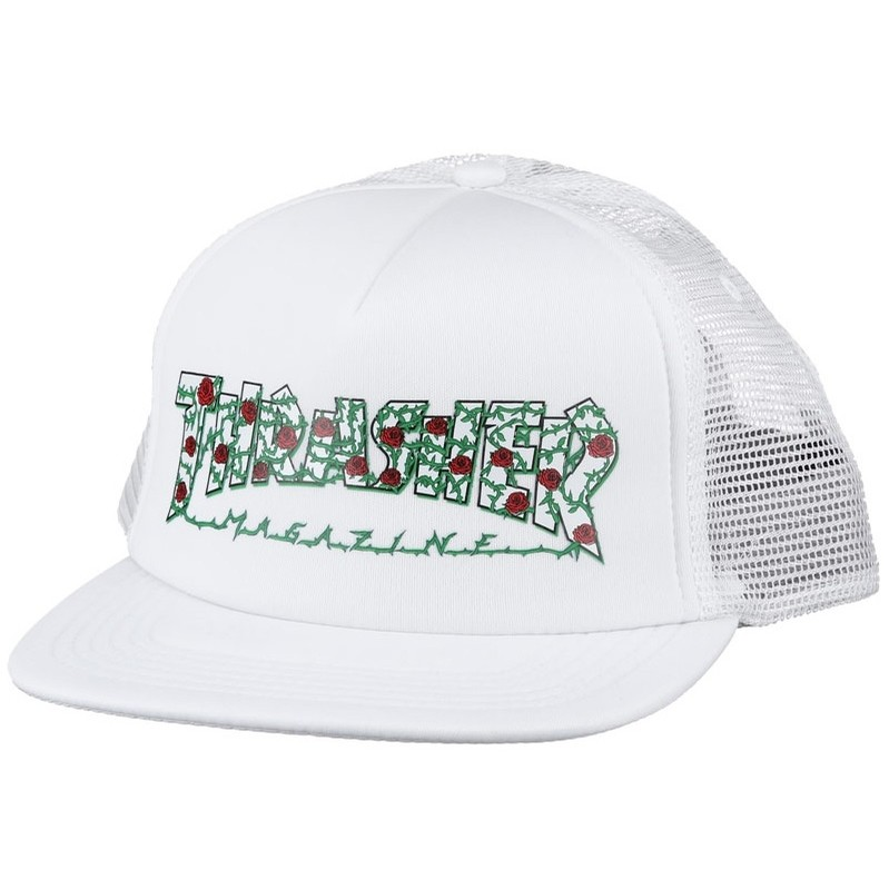 Thrasher Rose Mesh Hat (White)