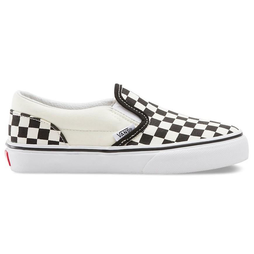 Vans Kids Classic Slip-On (Checkerboard) Black/White