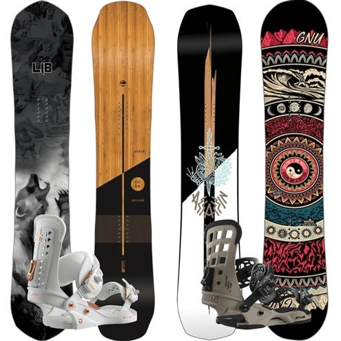 powder pursuits DEMO Snowboard and Bindings Only