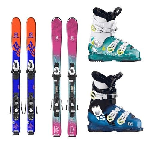 Kids Basic Ski,Boot, Pole package