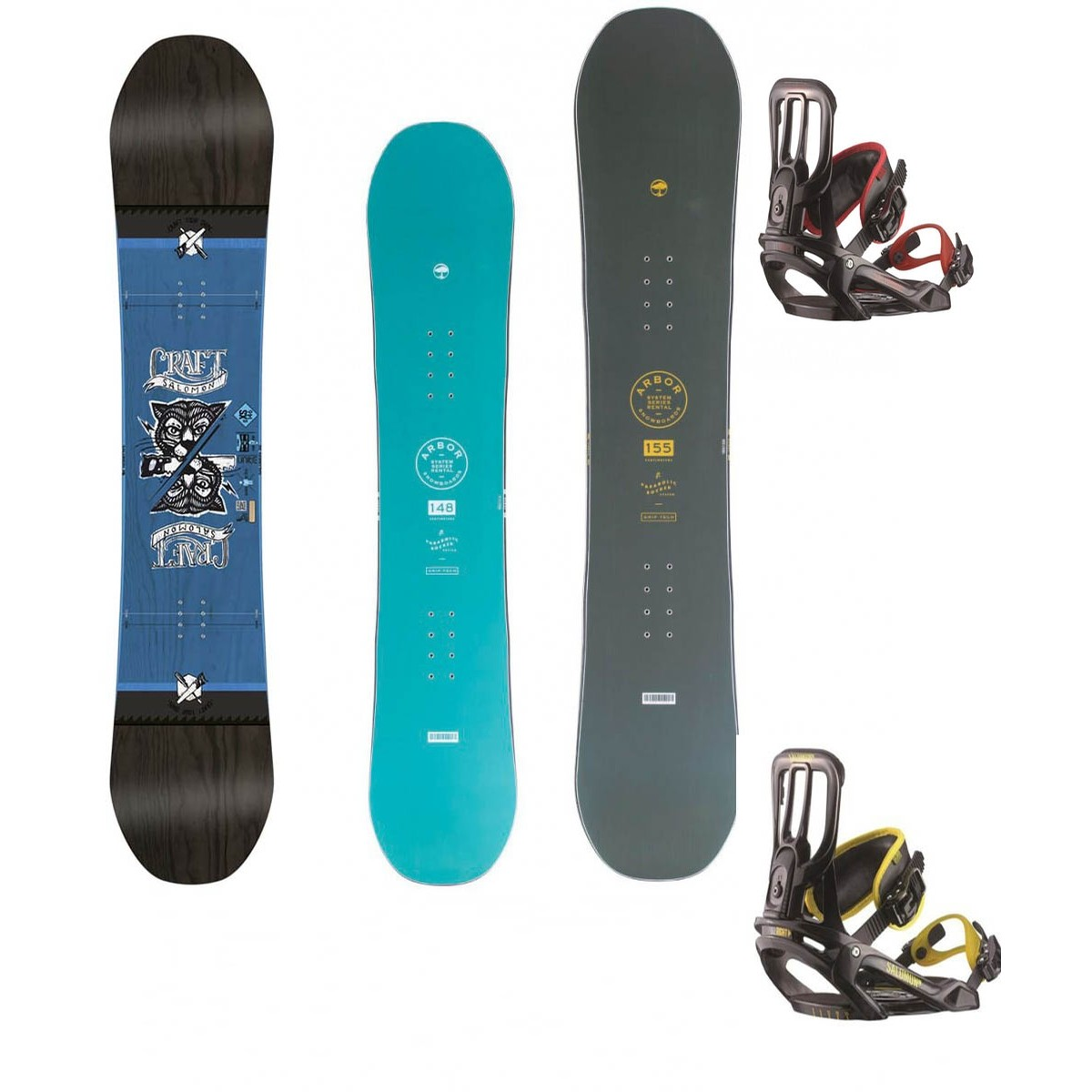 Basic board and bindings only