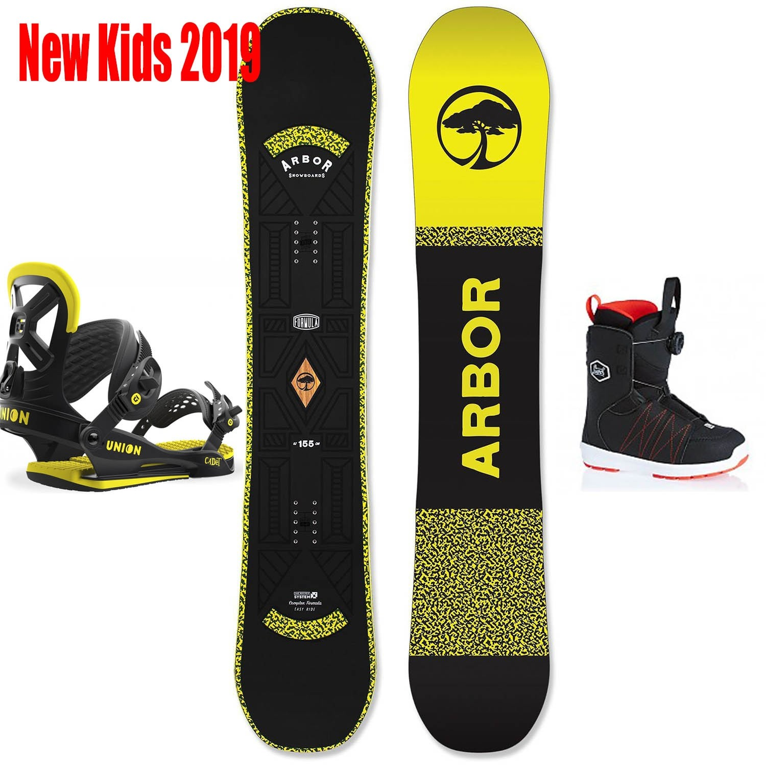 powder pursuits Kids Snowboard Package